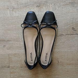 Black + Clear Flats S 7 - JustFab